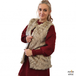 vesta blana de iepure femei